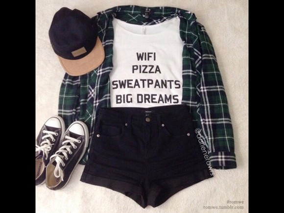 quote on it t-shirt white t-shirt white fashion pizza cute top cool shirts wifi dreams trendy