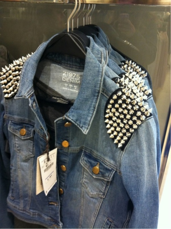 Spikes Denim Jacket - Shop for Spikes Denim Jacket on Wheretoget