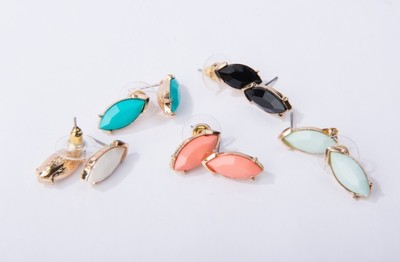 GroopDealz   Crystal Eclipse Earrings- 5 Colors! - Polyvore