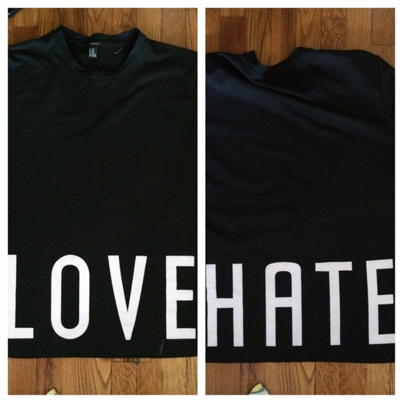 Love & hate graphic tee from ashlee's closet on poshmark
