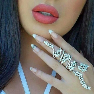 jewels jewelry knuckle ring ring bling full finger rings