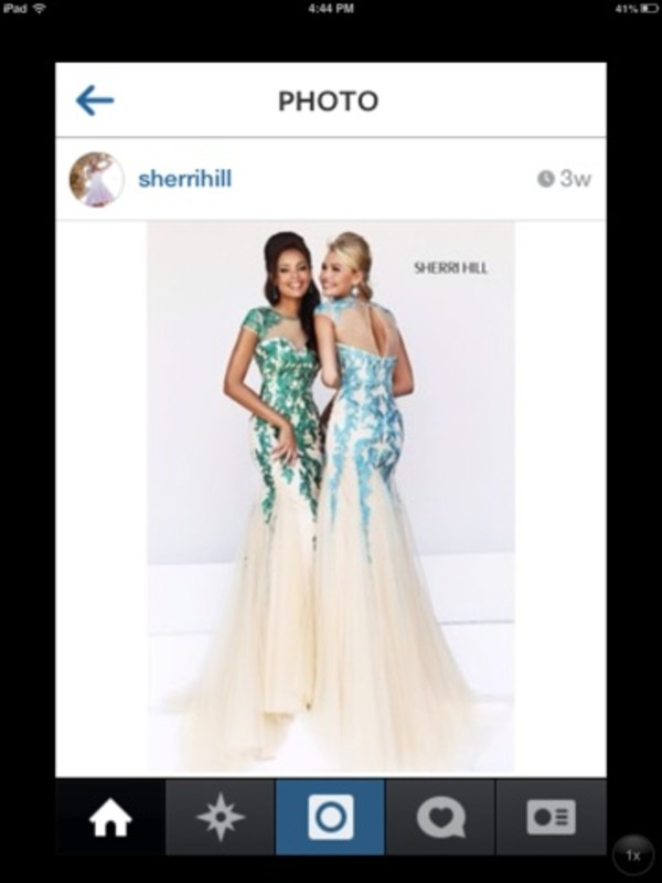 dress sherri hill long 2014 train
