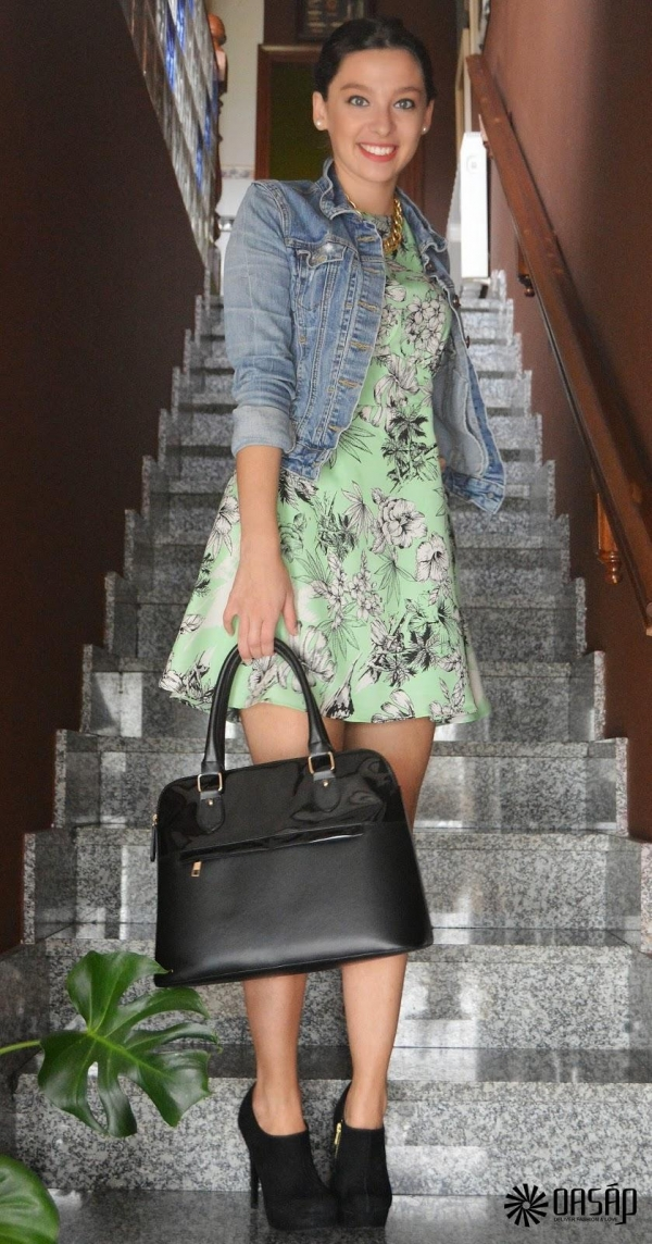 Green Floral Dress - OASAP.com