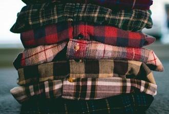 shirt flannel colorful boyish fall colors