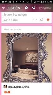 home accessory,silver,fancy framed mirror,mirror