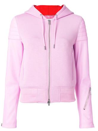 jacket hooded jacket women cotton wool purple pink
