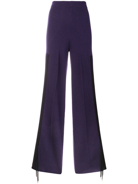 Circus Hotel women drawstring wool purple pink pants