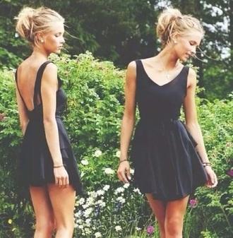 dress black v neck little black dress v-back
