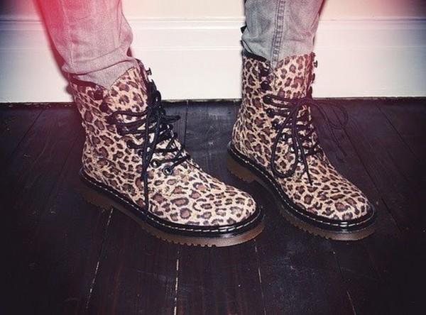 shoes leopard print boots dr marten boots