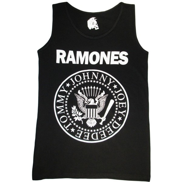 Ramones shirts Party Rock Band T Shirt Print Tank Top Single... - Polyvore