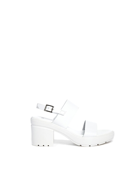 ASOS | ASOS HAT TRICK Leather Heeled Sandals at ASOS