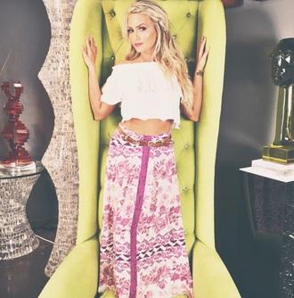 skirt gypsy maxi summer pattern fashion style free vibrationz