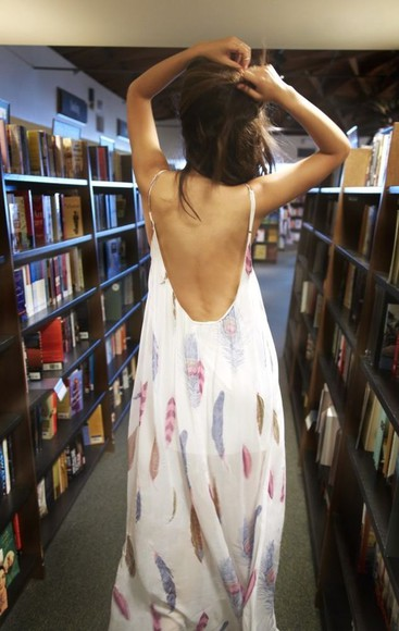 dress feather feathers white clothes maxi maxidress beautiful pastel pinterest
