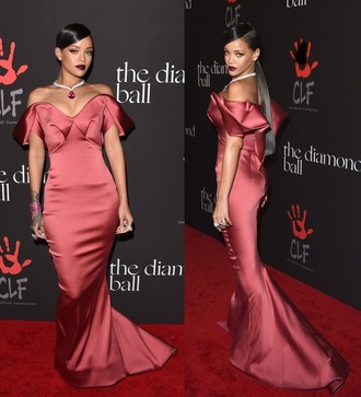 dress gown prom dress rihanna