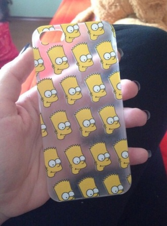 phone cover the simpsons bart simpson cartoon