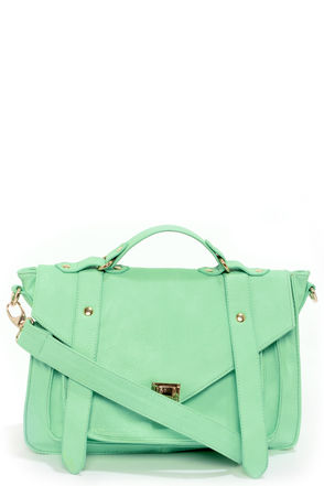 Cute Mint Green Handbag - Mint Green Purse - Vegan Leather Purse - $49.00