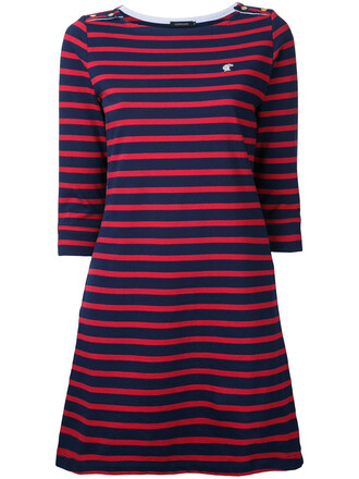 dress striped dress women cotton blue