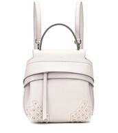 mini,backpack,leather backpack,leather,white,bag