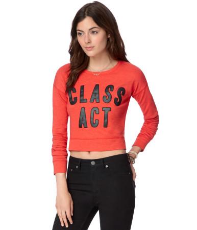 Class Act Crop Sweatshirt