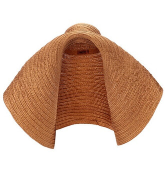 oversized hat brown