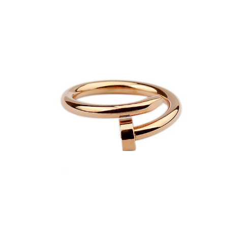 Wrap nail midi ring (rose gold)