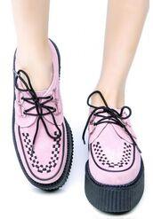 shoes,creepers,pink,light pink,tuk shoes,tuk creepers,tuk,pink mondo creepers,mondo creepers,kawaii,kawaii shoes,pastel creepers,kawaii creepers