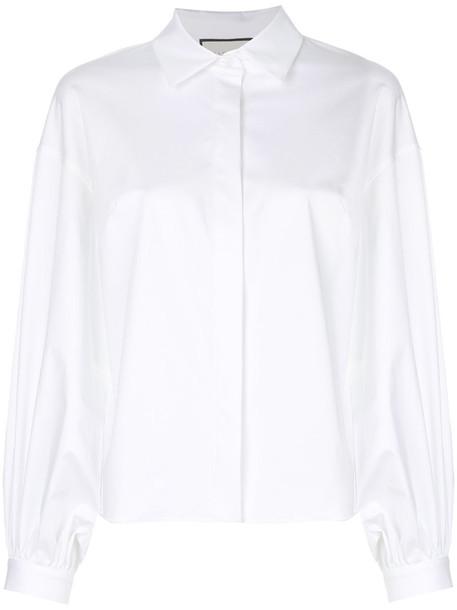 Alexis shirt women spandex white cotton top