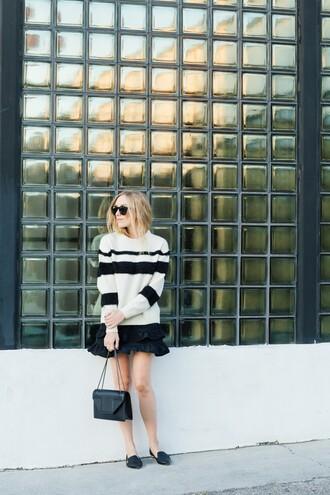 eat sleep wear blogger sweater skirt shoes bag