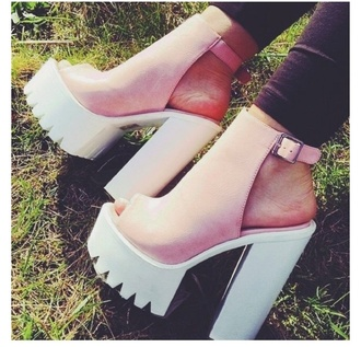 shoes heels high heels sandals pink shoes white shoes