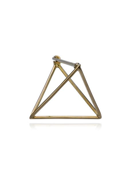 Shihara triangle women gold grey metallic jewels