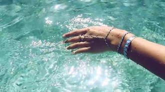 jewels pearl turquoise boho bohemian bracelets bracelet chains jewelry boho jewelry hand chain hand jewelry