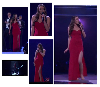 red dress slit slit dress boobtube
