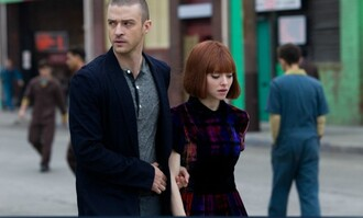 velvet dress peter pan collar in time amanda seyfried babydoll dress justin timberlake dress