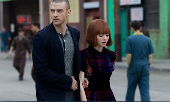 justin timberlake velvet dress peter pan collar in time amanda seyfried baby doll dress