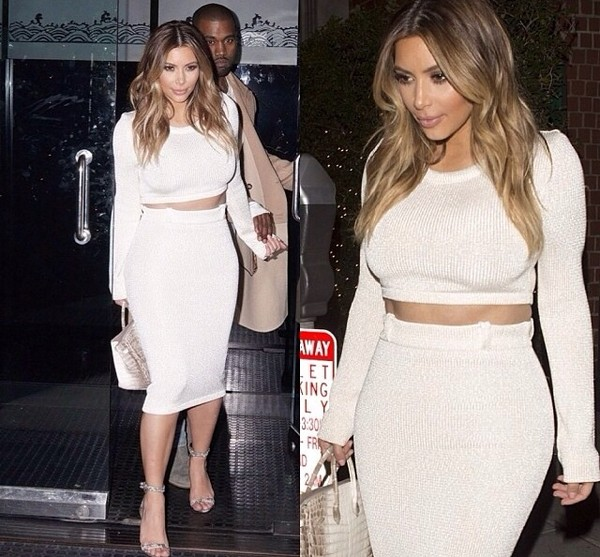 sweater kim kardashian knitted sweater white pencil skirt