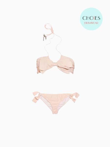 New Style Beige Bikini With Bowknot | Choies