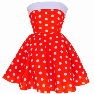dress styleiconscloset retro strapless polka dots pin up 50s style