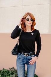 themiddlepage,blogger,t-shirt,jeans,shoes,belt,bag
