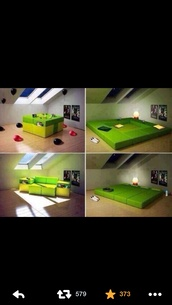 bag,bedding,couch,green,home decor