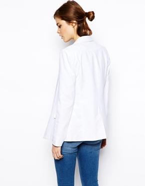 ASOS | ASOS Linen Longline Blazer at ASOS