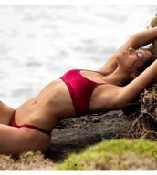 swimwear,girly,girl,girly wishlist,velvet,red velvet,red,bikini,bikini top,bikini bottoms,two-piece,swimwear two piece