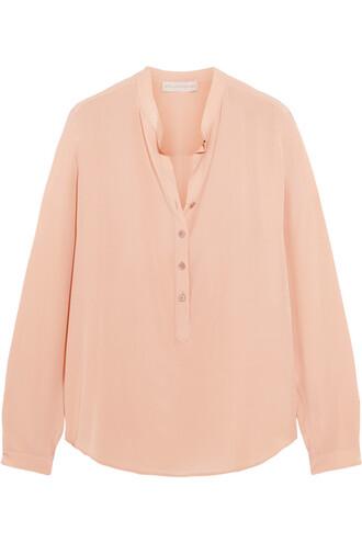 blouse silk blush top