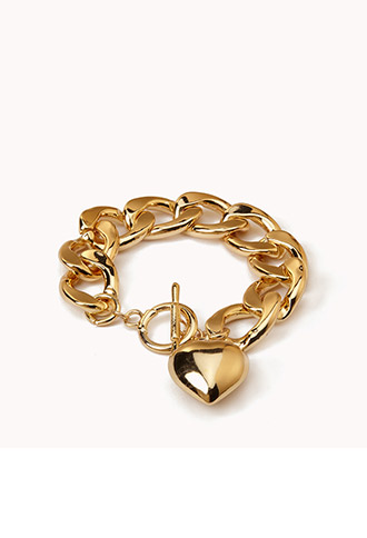 Summer Love Curb Chain Bracelet | FOREVER21 - 1050590931