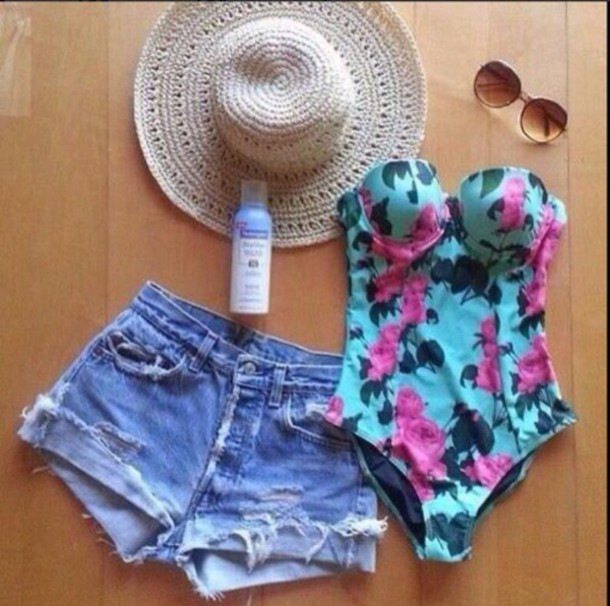 hat swimwear shorts