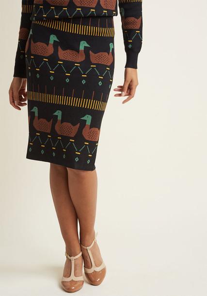 108646 skirt black pencil skirt pencil skirt heart soft black green brown