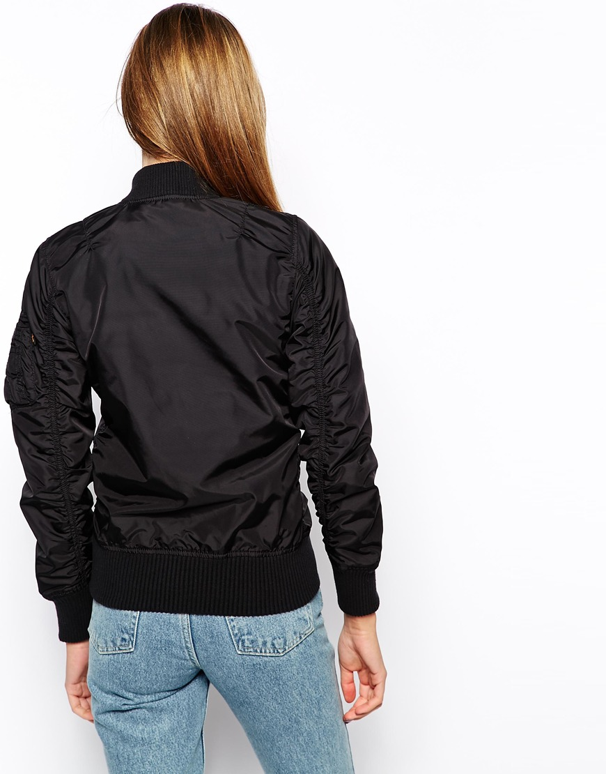 Alpha Industries Ma1 Soft Shell Bomber Jacket at asos.com