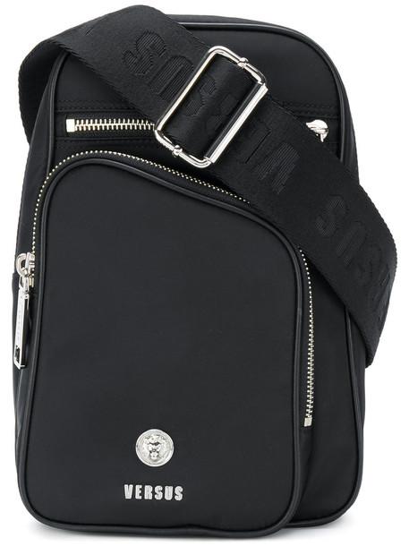Versus women backpack leather cotton black bag