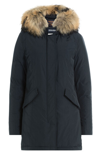 parka fur luxury blue coat