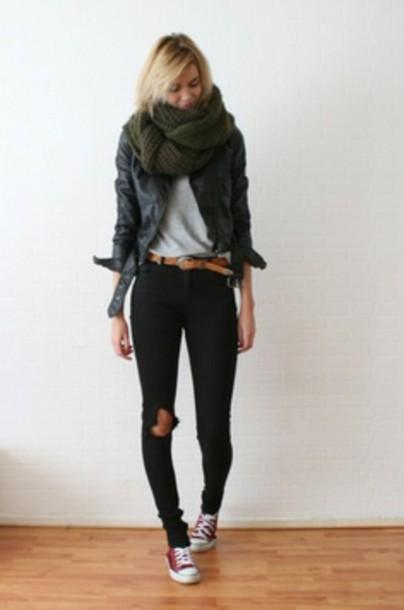 shoes tshirt scarf jacket wheretoget