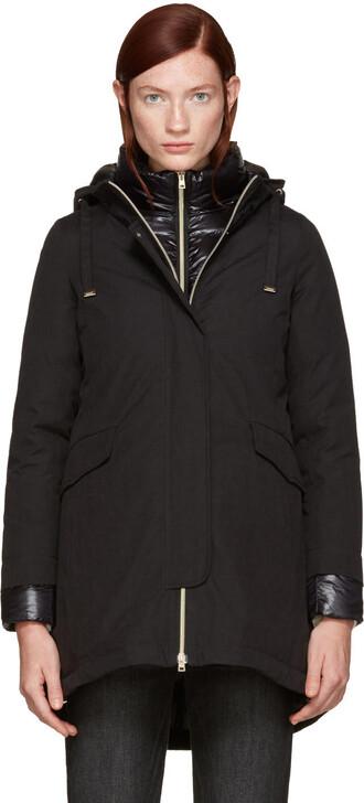 coat cotton black